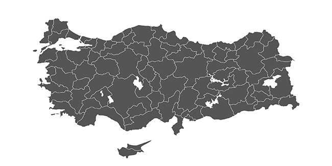 SVG Turkey Map | dnomak.com